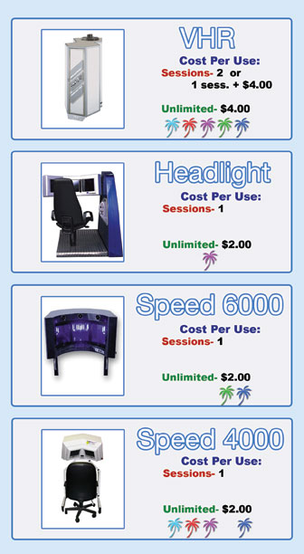 stand up tanning and face tanner machines